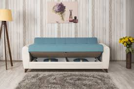 Sectional Sofa Bed With Storage by Furniture Blue And White Convertible Sofa With Storage Plus