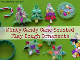 minty scented play dough ornaments learning 4