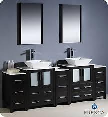 84 inch vanity cabinet fresca torino 84 inch w 13 drawer 4 door vanity in black with