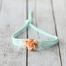 mint green headband tieback headband mint tieback green headband newborn by corabloom