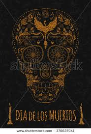 dia de muertos illustration traditional mexican stock vector