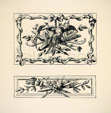 ornaments italiens panno style louis seize engraving of 18