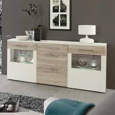 Esszimmer Schrank Eiche Esszimmer Sideboard In Weiß Eiche Mit Glas Jetzt Bestellen Unter