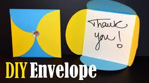how to make an envelope easy diy envelope youtube