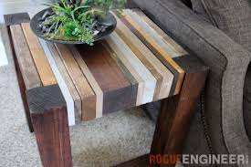 Wood Plans For End Tables by Scrap Wood Side Table Free Diy Tutorial Rogue Engineer