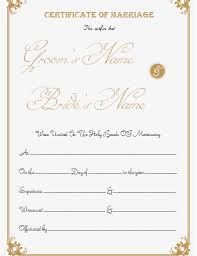 printable fake marriage certificate template at document templates