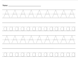 Free Alphabet Tracing Worksheets Tracing The Letter A For Your Children Kiddo Shelter Kids