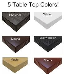 10 x 4 conference table tables w square black legs mocha maple white black or charcoal