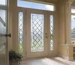 exterior design white frame of glass pella doors with white