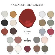 benjimin moore introducing caliente af 290 benjamin moore s red hot 2018 color of
