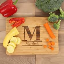 engraved cutting board cuttingboards net standard monogram engraved cutting board a