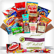 junk food basket 38 unique gift baskets that don t dodo burd