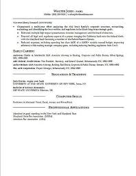 Examples Of Federal Resumes by General Counsel Resume Example