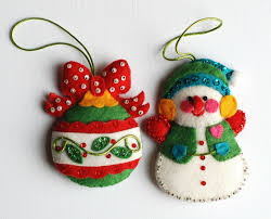 felt ornaments felt ornaments vintage felt christmas ornaments with sequins by