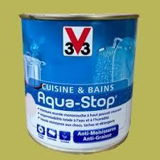 v33 cuisine et bain peinture v33 cuisine et bains aqua stop vert 0 5l satin pas
