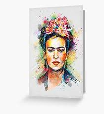 frida kahlo greeting cards redbubble