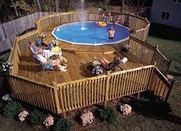 how to build a pool deck above ground plans nobby decks designs