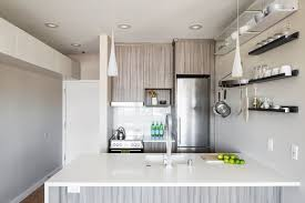 Corian Shelf Modern Kitchen With Hardwood Floors By Model Remodel Zillow Digs