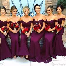 sale cheap mermaid bridesmaid dresses 2017 off the shoulder
