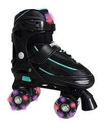 roller skates with flashing lights amazon com mongoose kids light up led adjustable roller skates