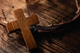 cross and crown of thorns of jesus stock image image of