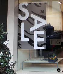 retail sale decal sale sticker fig boutique shop window decal