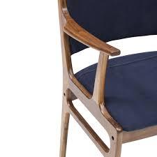 Canvas Folding Chairs by Bina Arm Chair Dark Blue Canvas Four Hands