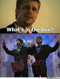 Whats In The Box Meme - what s in the box by raine miller meme center