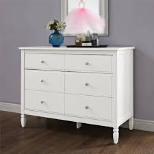Walmart Bedroom Dressers Better Homes And Gardens Lillian 6 Drawer Dresser White Walmart
