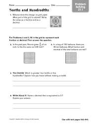 free worksheets tenths worksheet free math worksheets for
