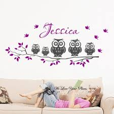 Owl Wall Sticker Popular Personalised Owl Wall Sticker Buy Cheap Personalised Owl