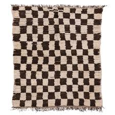 Midcentury Modern Rug Mid Century Modern Berber Moroccan Rug With Retro Checkerboard