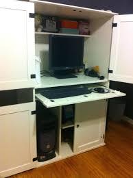 Corner Computer Armoire Desk by Armoire Mesmerizing Black Computer Armoire For Home Computer