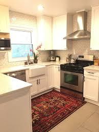 corner cabinet kitchen rug 20 gorgeous rug ideas for your kitchen