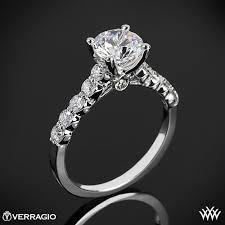 cathedral setting verragio shared prong cathedral diamond engagement ring 1845