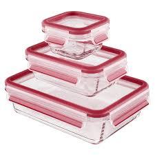 Kunststoffdosen Transparent Mit Deckel by Emsa 514169 3 Teiliges Frischhaltedosenset Mit Deckel Glas