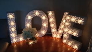 Beautiful Lighting Light Up Letters For Weddings U0026 Events Written In Lights