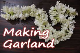 how to make a garland of jasmine flowers easy diy technique