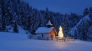 religious beautiful christmas tree chapel bavaria germany forest