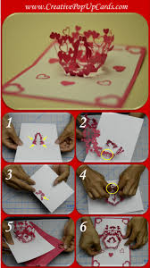 idea for valentine u0027s day double heart pop up card pop up cards