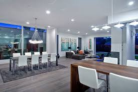 Contemporary Island Lighting Contemporary Great Room With Hardwood Floors U0026 Pendant Light In
