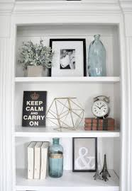 Shelf Decorations | styling built ins instagram feed spaces and house