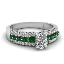 stunning emerald side stone engagement rings fascinating diamonds