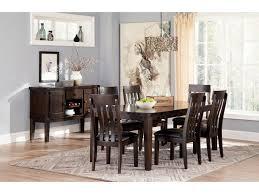 upholstered dining room sets signature design by ashley haddigan 7 piece rectangular dining