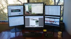 dual monitors home office ideas la office journal pinterest