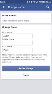 how to change your name on facebook without being blocked