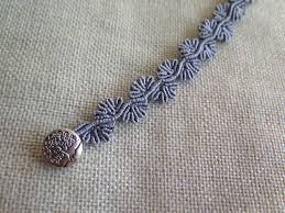 macrame flower bracelet images Micro macrame flower bracelet silver grey macrame bracelet jpg