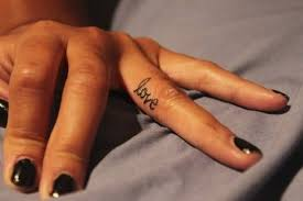 brilliant love tattoo for u0027s finger tattooshunter com