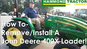 how to remove a john deere loader youtube