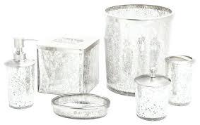 Silver Bathroom Accessories Sets Silver Bathroom Set Ice 6 Piece Bathroom Accessory Set